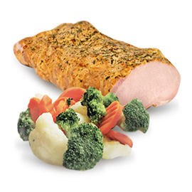 Cibo precotto <br> (verdure, carne, ecc.)